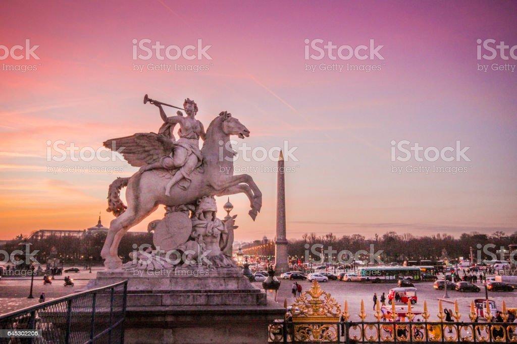 Paris France Statue stock photo