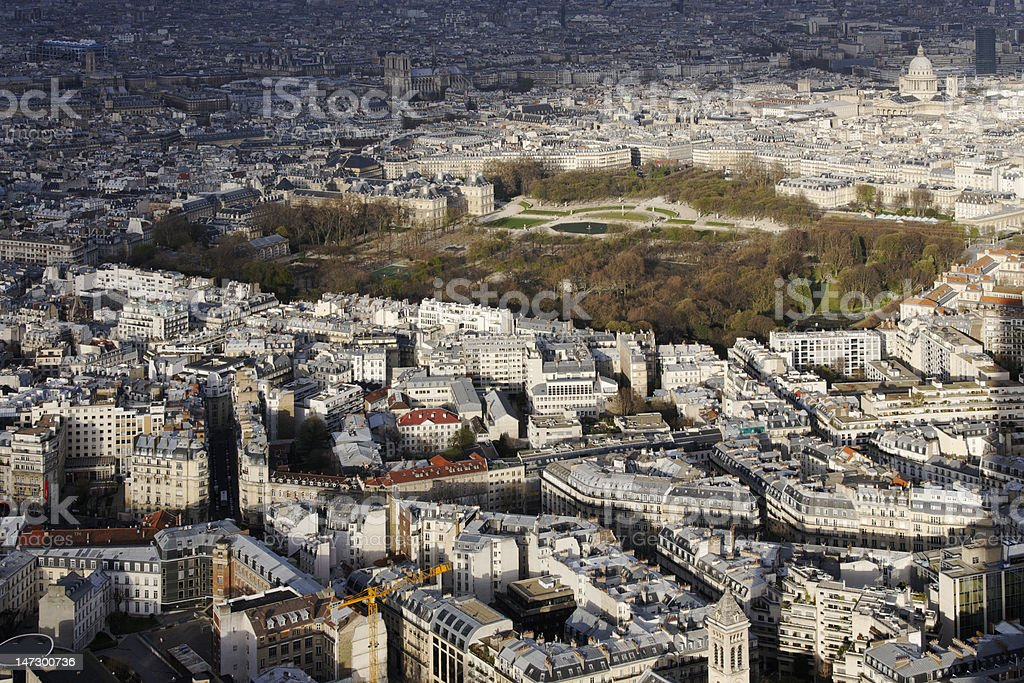 Paris, France, with Jardin du Luxembourg and Latin Quarter royalty-free stock photo
