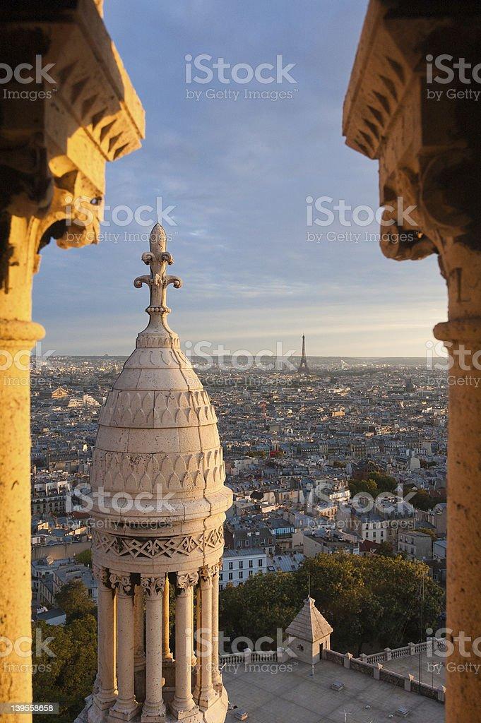 Paris from the Basilique du Sacre-Coeur royalty-free stock photo