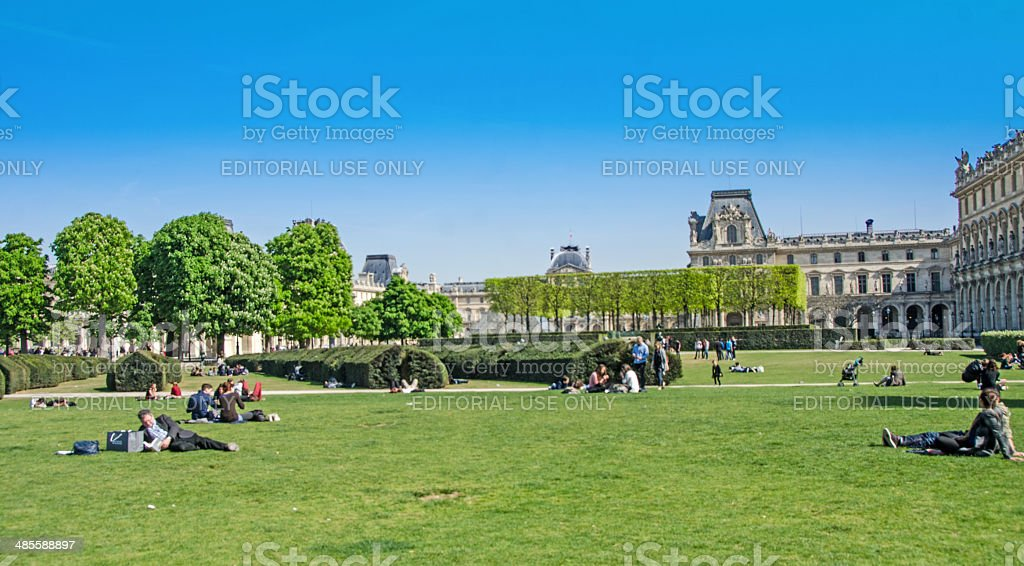 Paris Gardens in the Spring stock photo