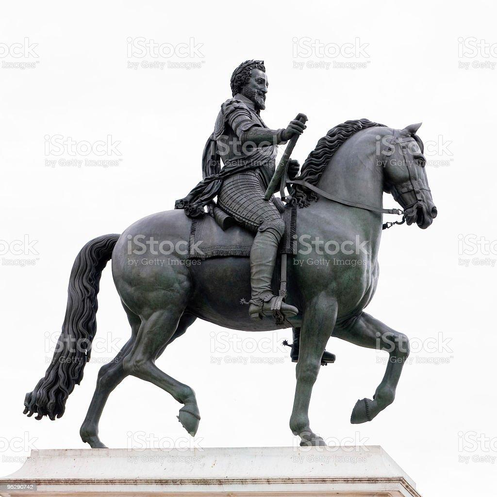 Paris: Henri IV statue on Pont Neuf stock photo