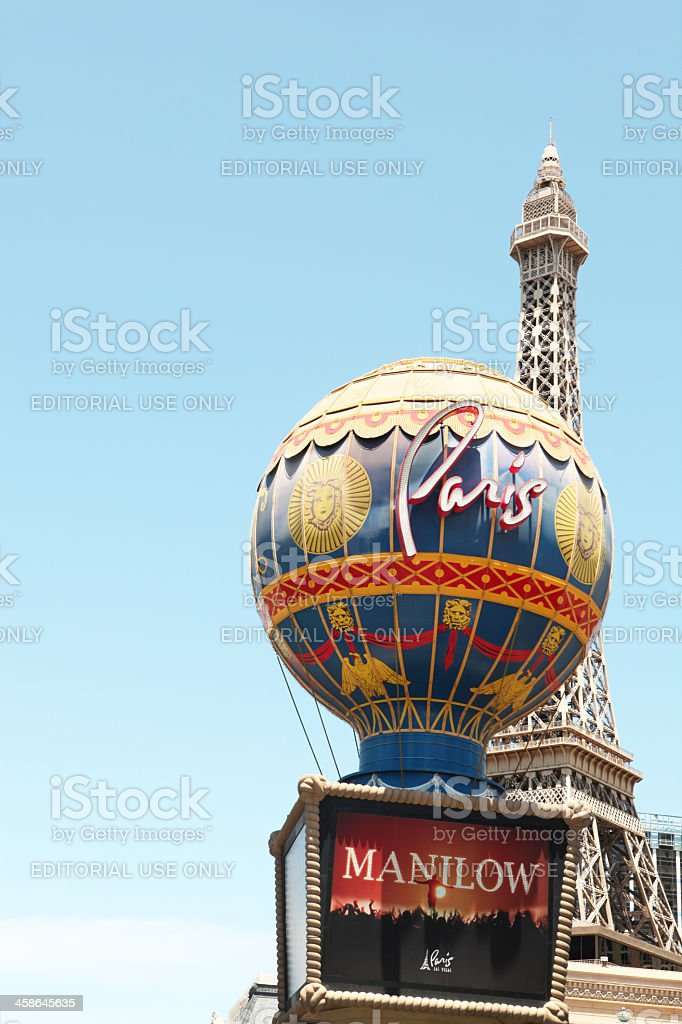 Paris Hotel and Casino at Las Vegas royalty-free stock photo