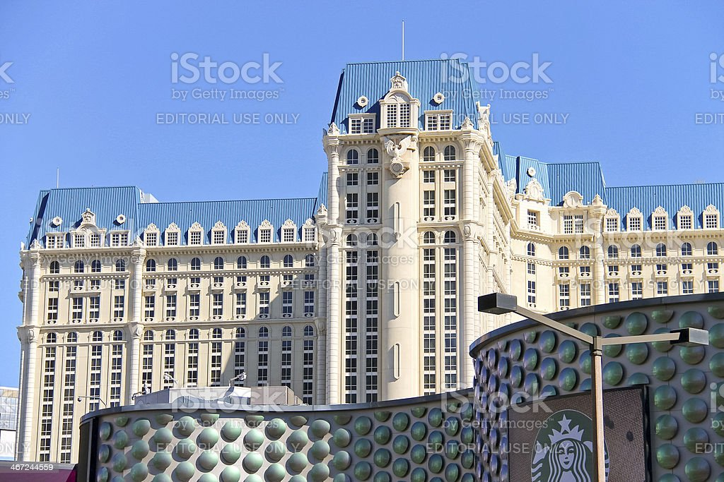 Paris Hotel and Miracle Mile Shops in Las Vegas stock photo