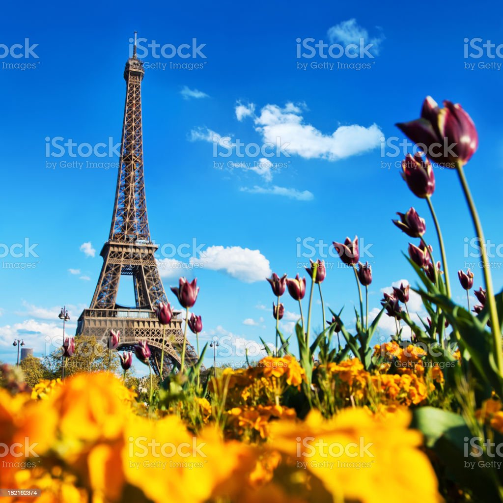 Paris in Spring stock photo