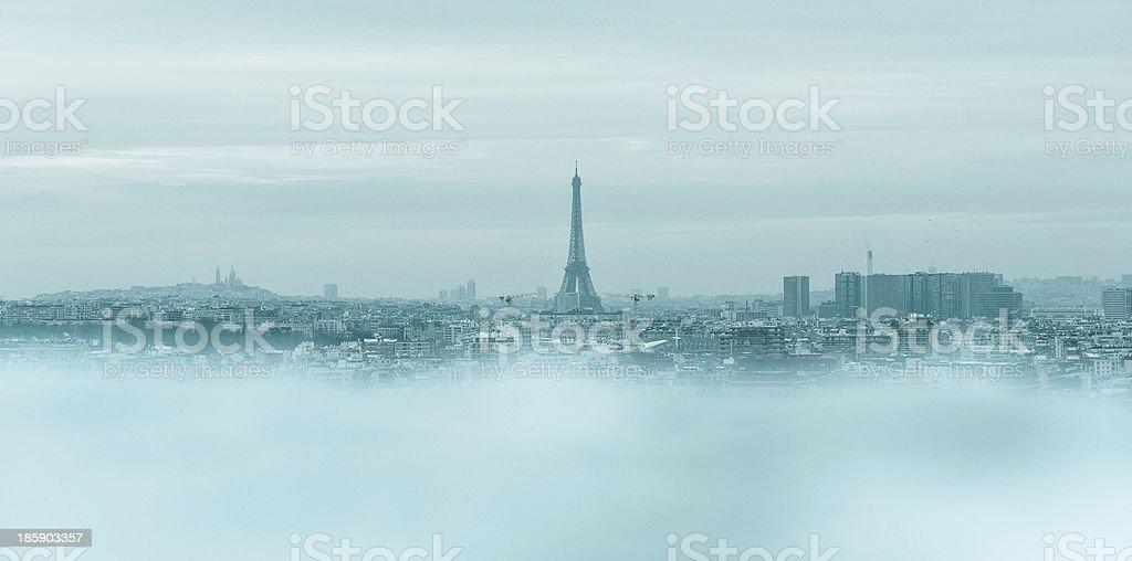 Paris in winter stock photo