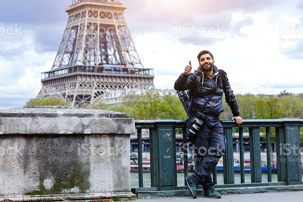 Paris is a great place for photography stock photo