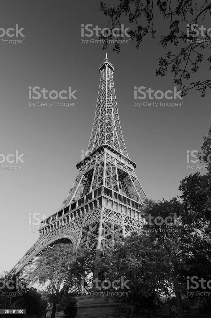 Paris IX - The Tower Surroundings stock photo