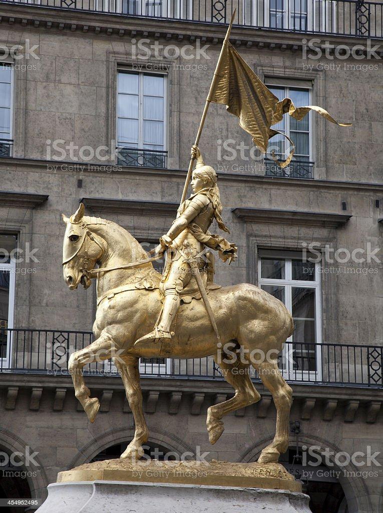 Paris - Joan of Arc statue near the Louvre stock photo