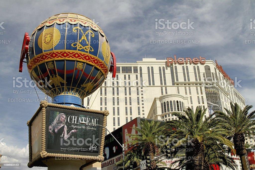 Paris Las Vegas and Planet Hollywood stock photo
