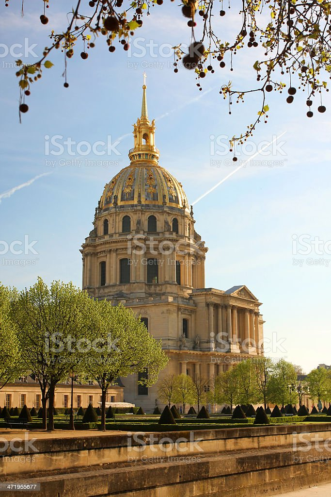 Paris, Les Invalides in spring time, famous landmark, France royalty-free stock photo