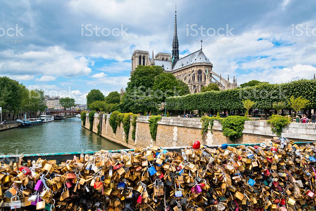 Paris Love lockers stock photo
