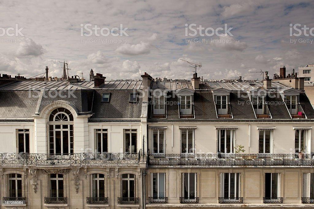 Paris Mansard Rooftops stock photo