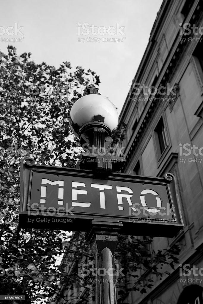 Paris Metro Sign, France royalty-free stock photo