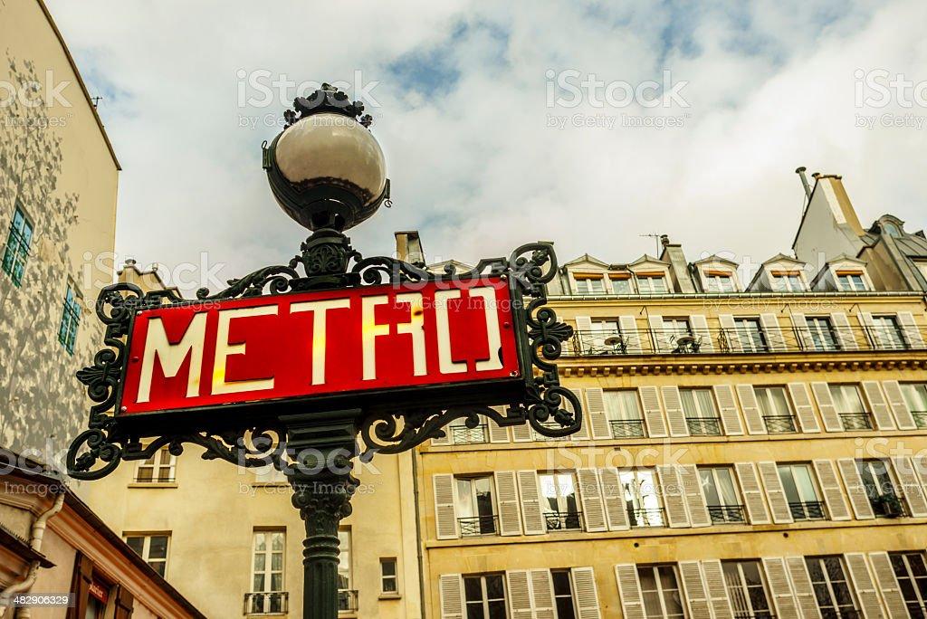 Paris metro sign royalty-free stock photo