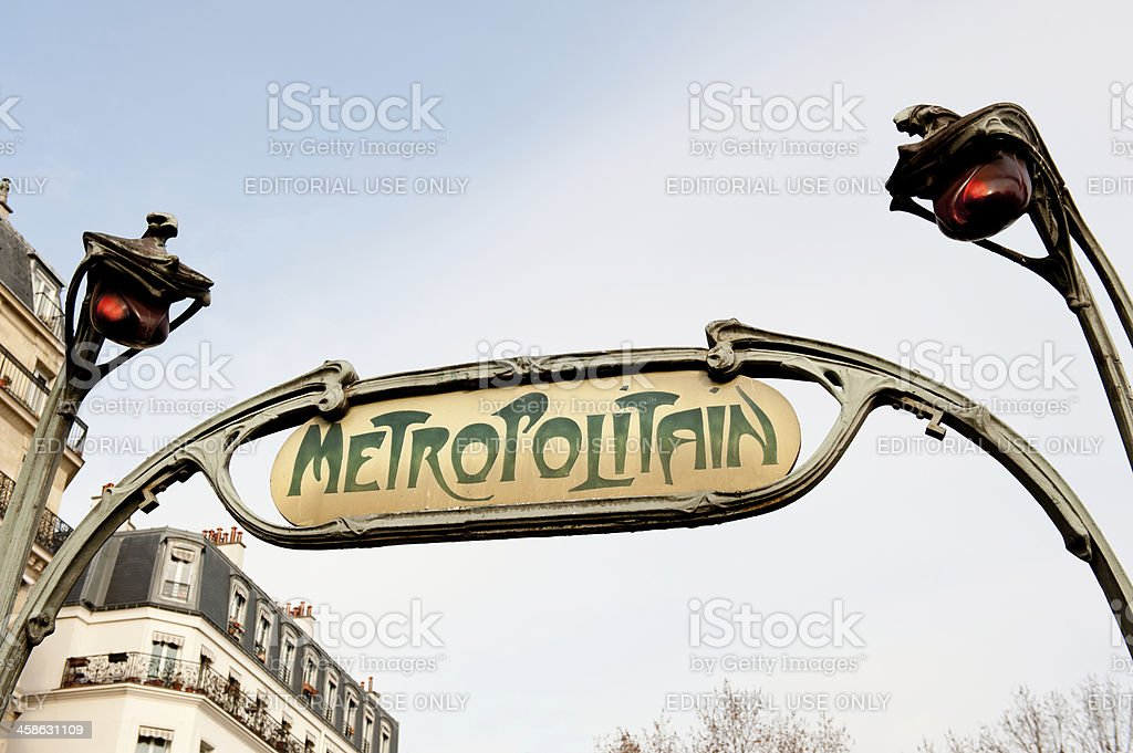 Paris Metropolitan royalty-free stock photo