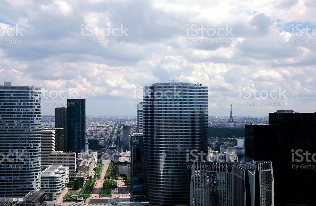 Paris modern panoramics royalty-free stock photo