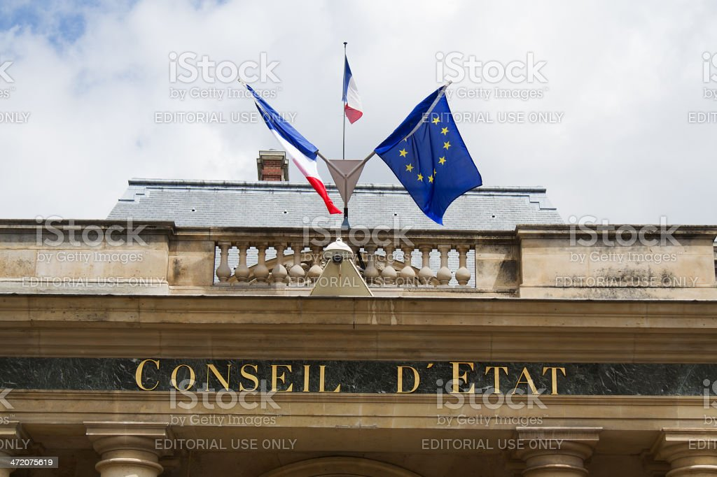 Paris, Monument, Conseil d'Etat royalty-free stock photo
