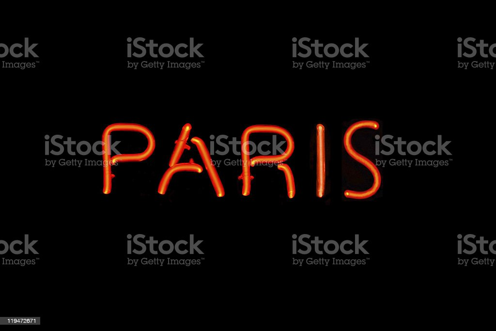 Paris neon sign stock photo