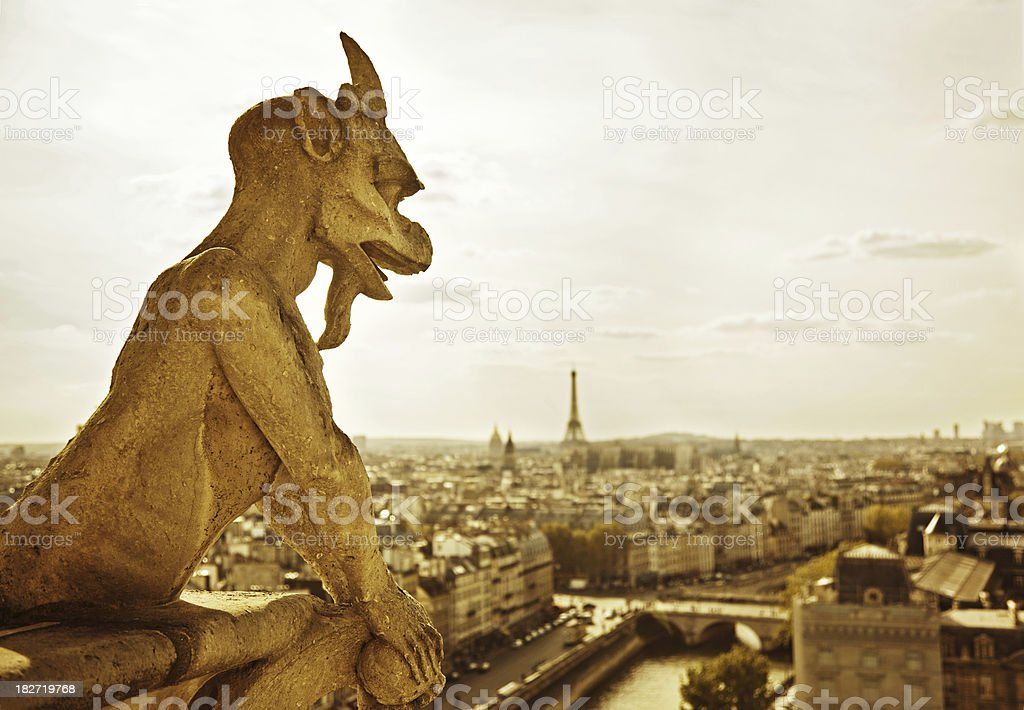 Paris, Notre Dame Cathedral royalty-free stock photo
