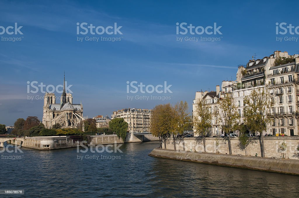 Paris Notre Dame Cathedral royalty-free stock photo
