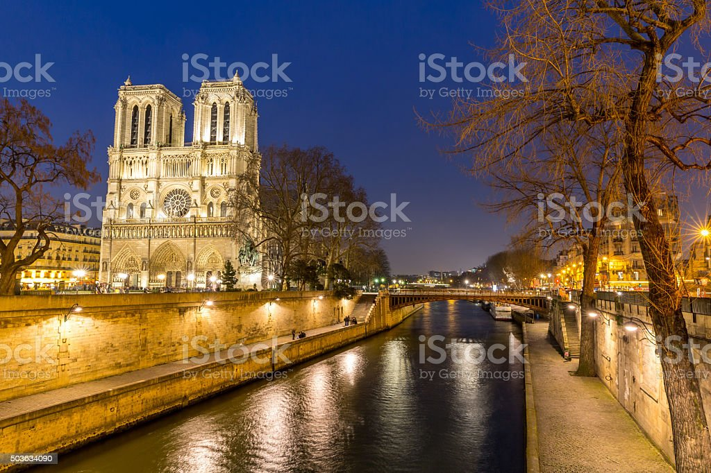 Paris Notre Dame stock photo