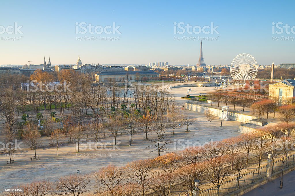 Paris on a Sunday Morning royalty-free stock photo