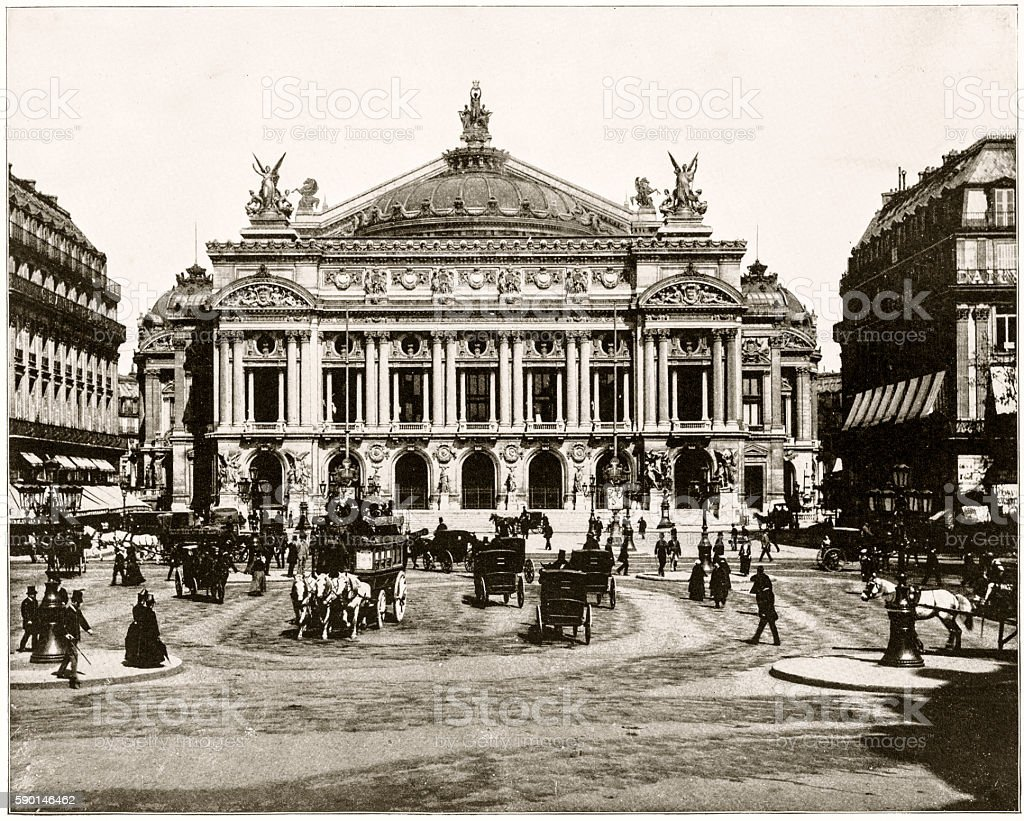 Paris Opera, France in 1880s stock photo