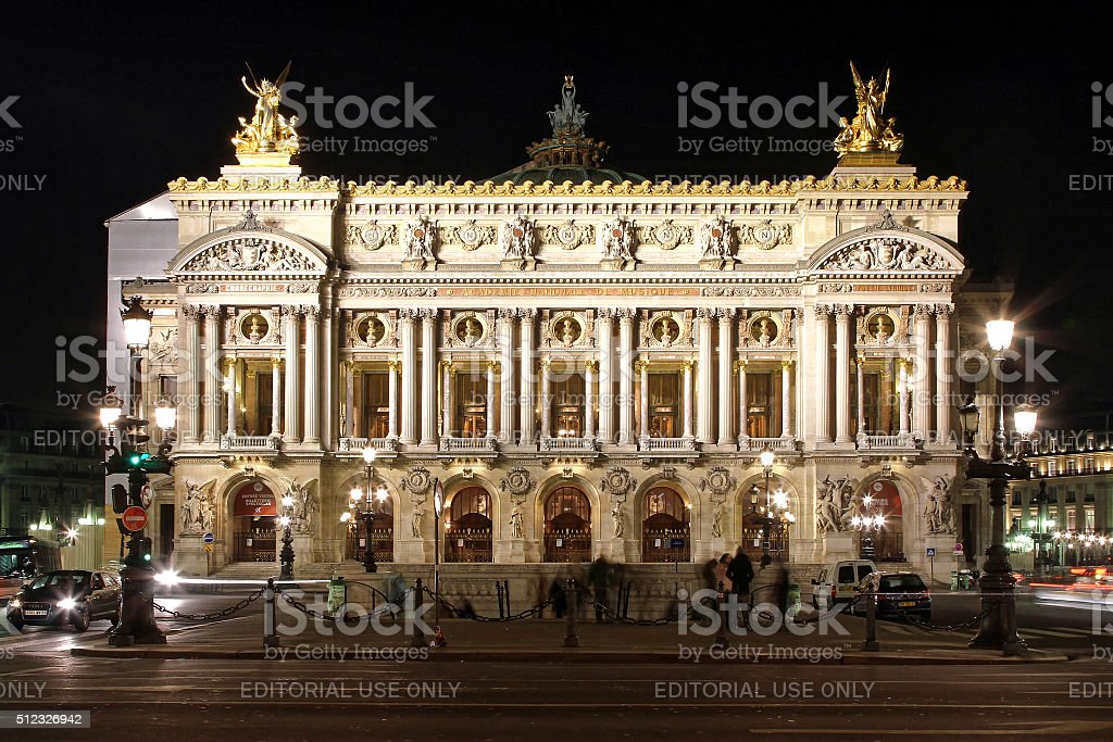 Paris Opera Night stock photo