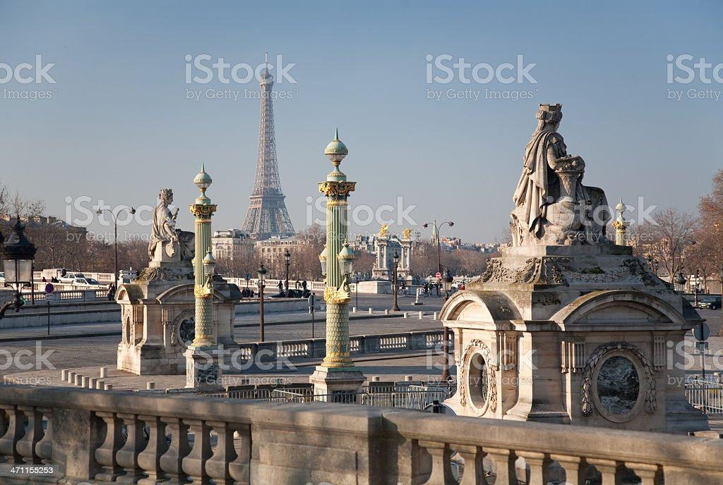 Paris overview, jardin des tuileries stock photo