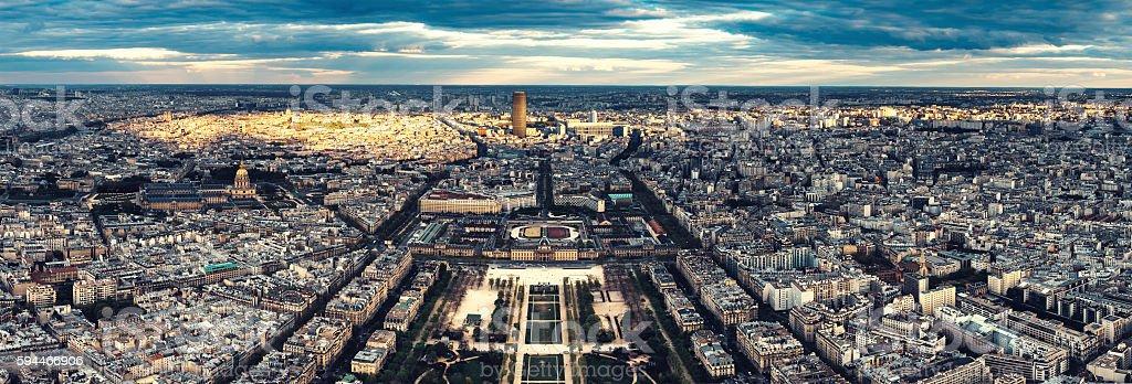 Paris Panorama From Eiffel Tower stock photo