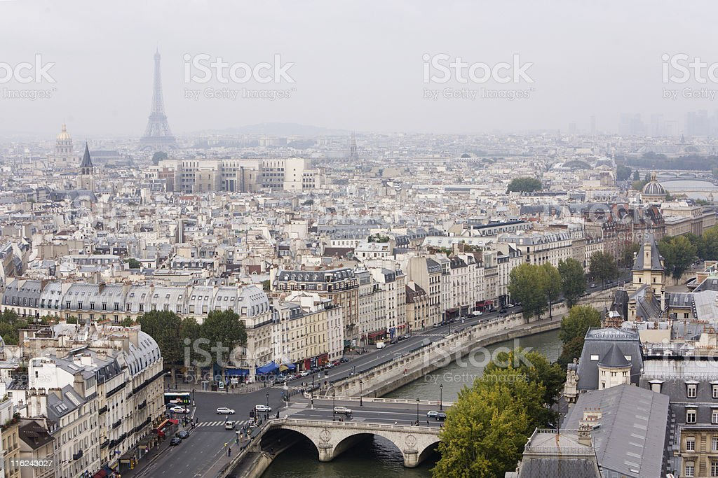 Paris panorama - view from above royalty-free stock photo
