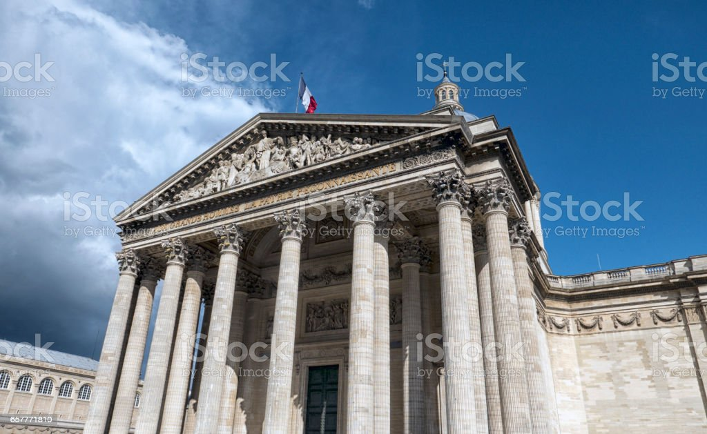 Paris Pantheon stock photo