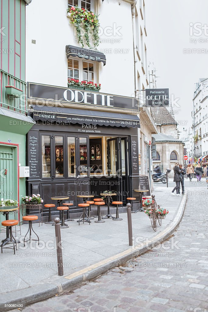 Paris pastry-shop and tea-room Odette stock photo