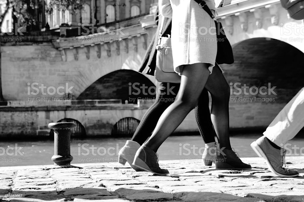 Paris People walking royalty-free stock photo