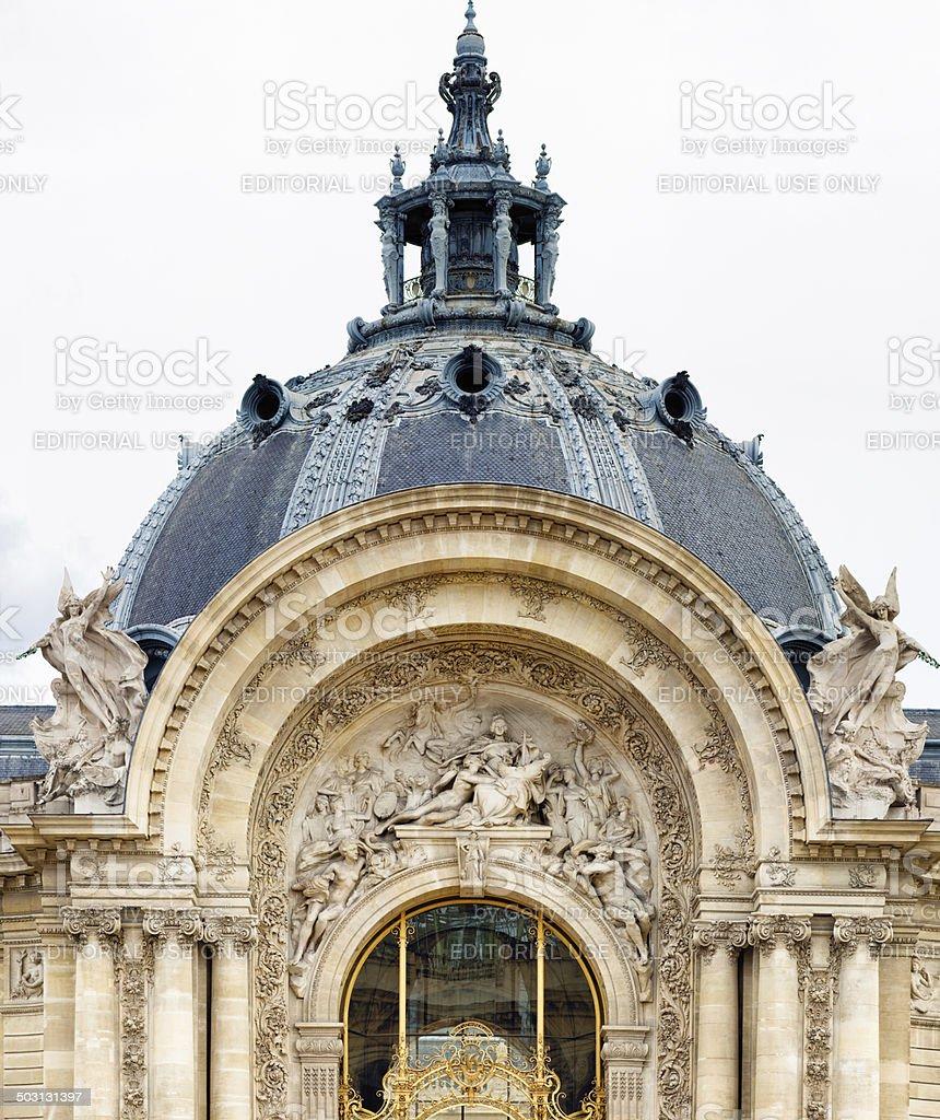 Paris Petit palais main entrance dome stock photo