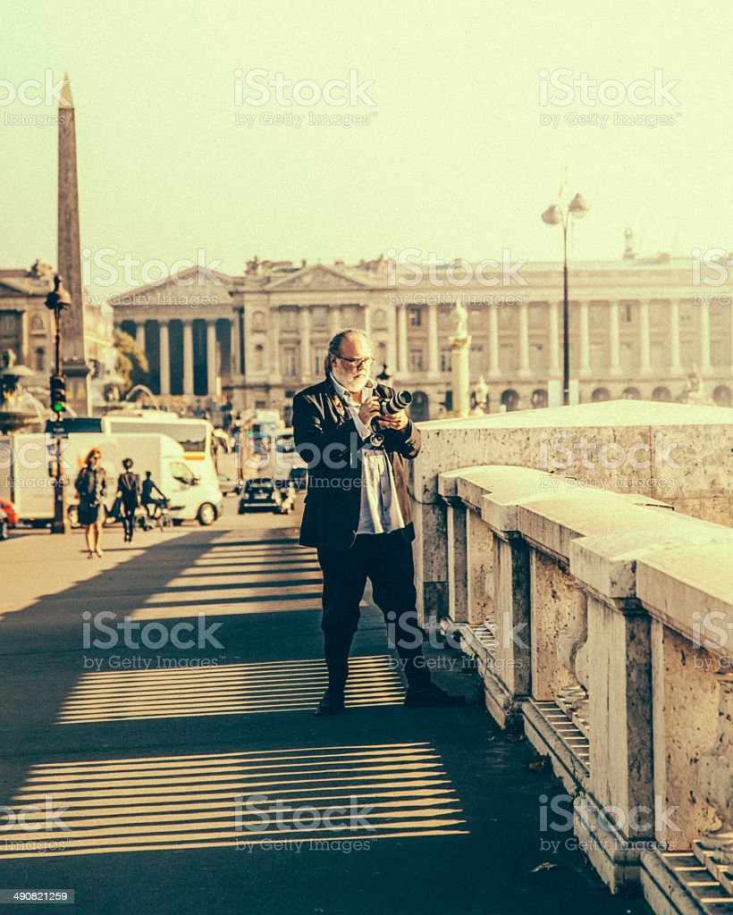 Paris photographer stock photo