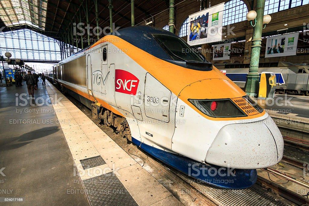 TGV Paris stock photo
