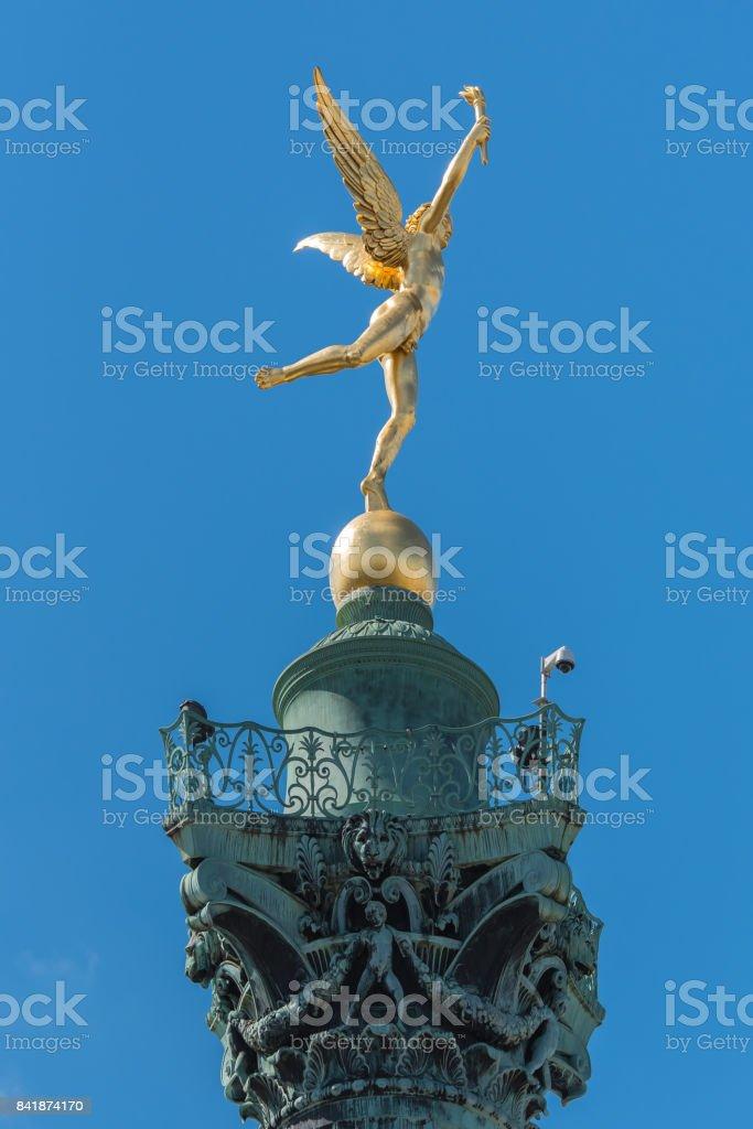 Paris, place de la Bastille stock photo