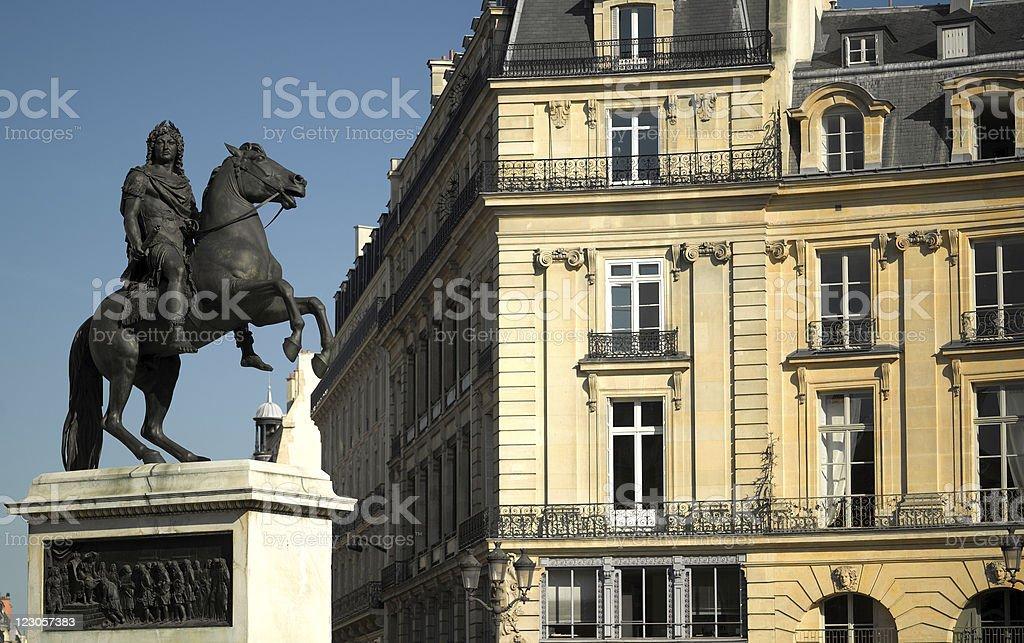 Paris - Place des victoires stock photo