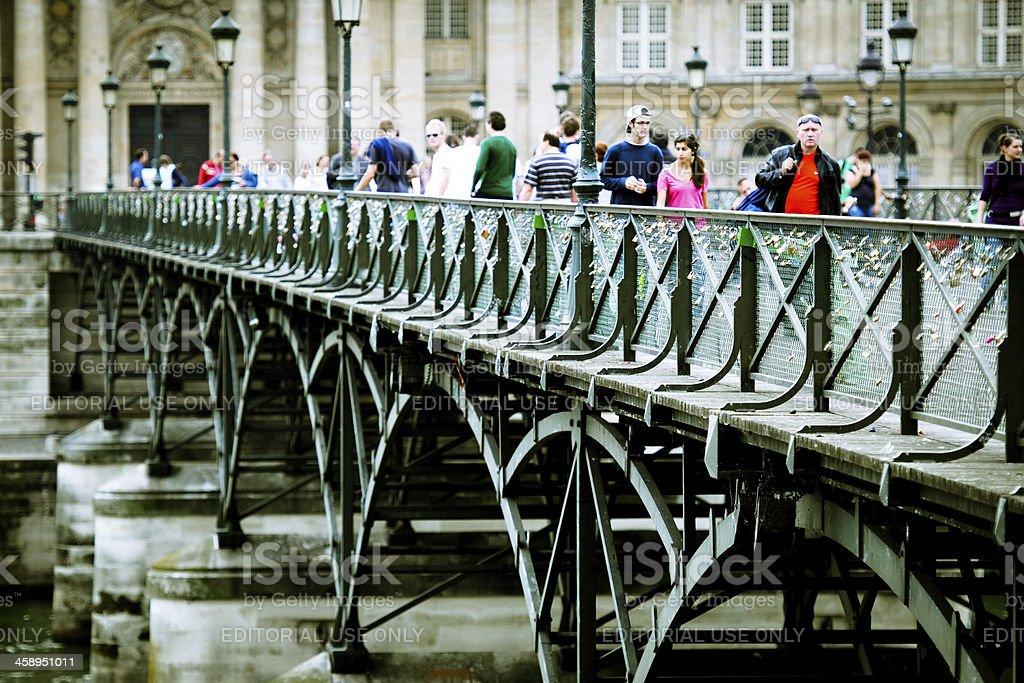Paris Pont des Arts Bridge - XLarge stock photo