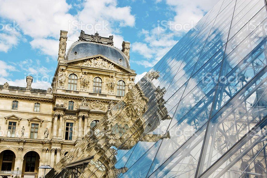 Paris reflections stock photo