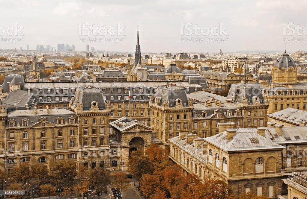 Paris roofs stock photo