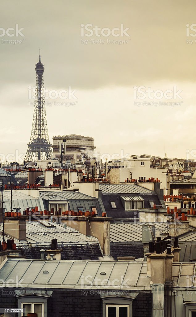 Paris Roofs royalty-free stock photo