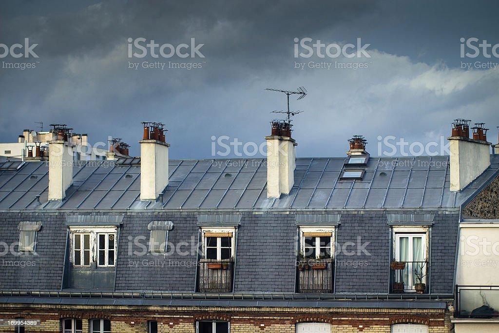 Paris Rooftop stock photo
