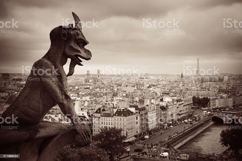 Paris rooftop view stock photo