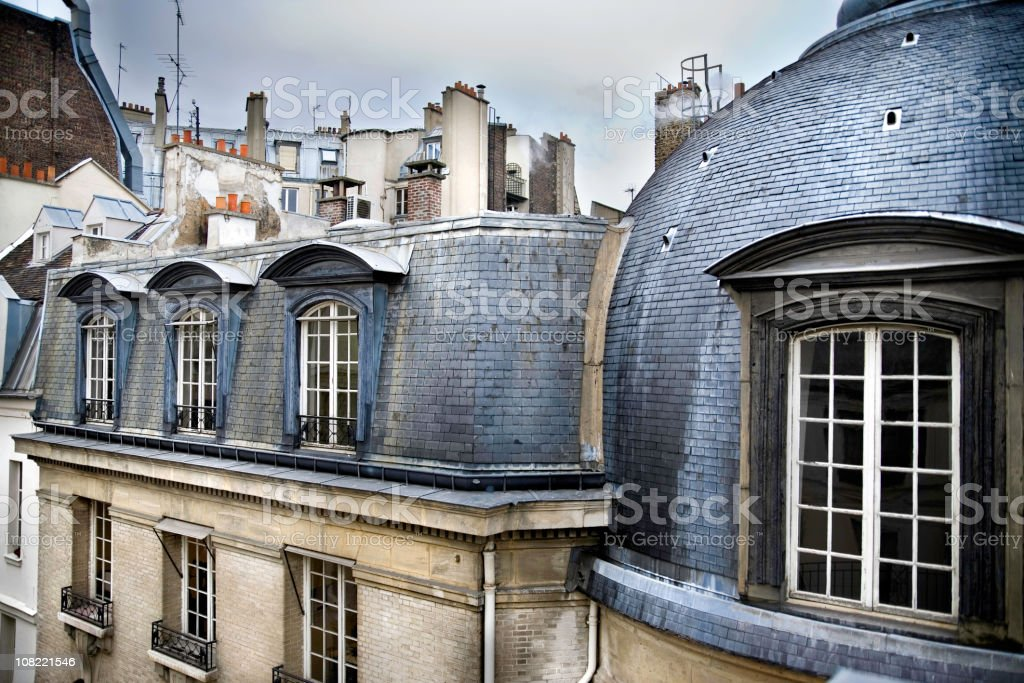 Paris Rooftops  from Top of Building royalty-free stock photo