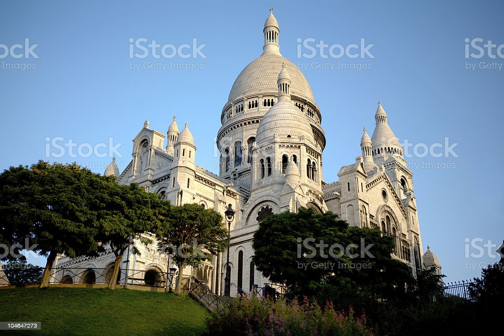 Paris - Sacre-Coeur in the morning stock photo