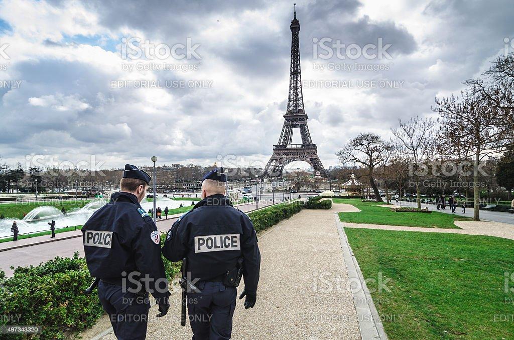 Paris Security agents stock photo