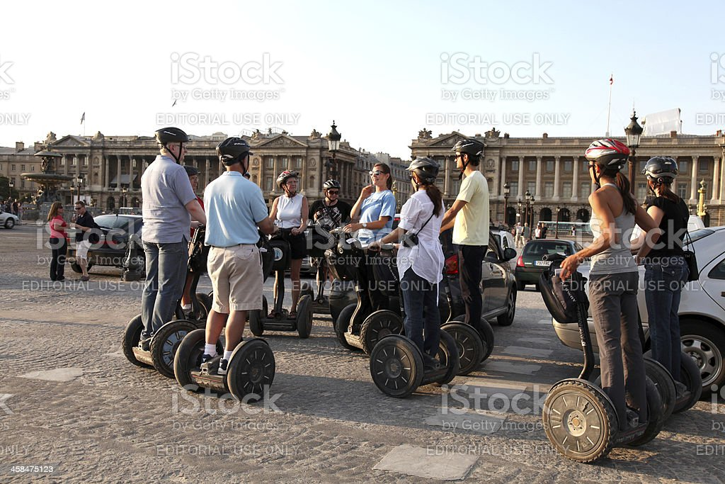 Paris Segway tour royalty-free stock photo
