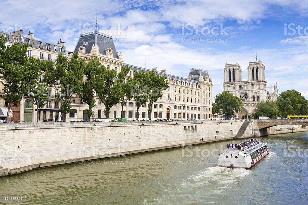 Paris, Seine river and Notre Dame. royalty-free stock photo